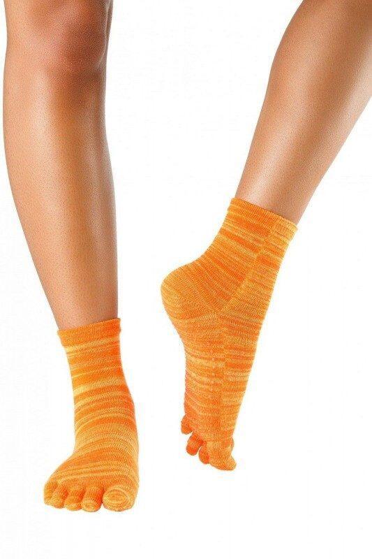Knitido Wellness Fruits /& Pepper Massage Stoppersocken Kurze Rutschfeste Zehensocken f/ür Yoga und Pilates mit ABS