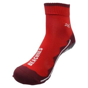 BEACHIES  Wattsocken / Aquasocken / Sockenschuhe  – rot-rot-Welle